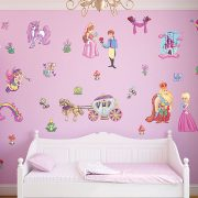 Small Childrens Fairy Princess Wall Stickers Scene