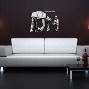 Banksy I Am Your Father Wall Sticker - Room Image