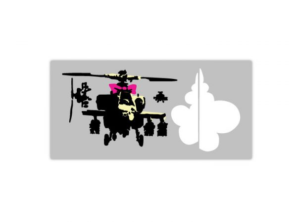 Banksy Apache Helicopter Wall Stickers-4692