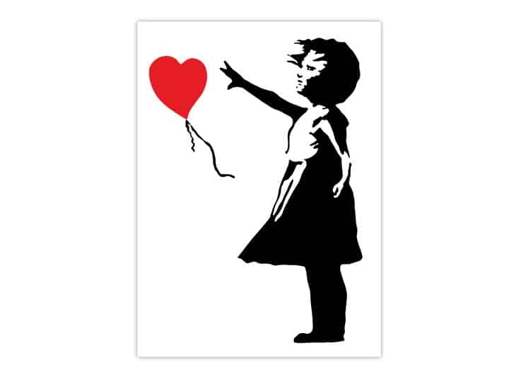 Banksy Balloon Girl Wall Stickers-4715