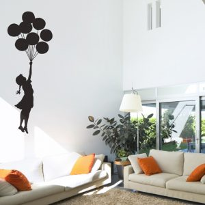 Banksy Balloon Floating Wall Sticker - Room Image