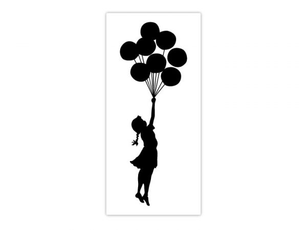 Banksy Balloon Floating Wall Stickers-4714