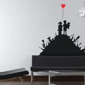 Banksy Kids with Guns Wall Sticker - Room Image