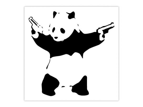 Banksy Panda Wall Sticker - Dimensions