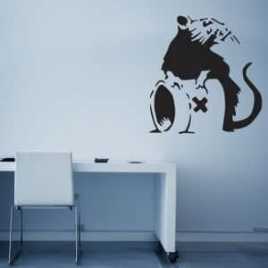 Banksy Poison Rat Wall Sticker - Room Image