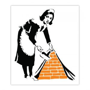 Banksy Maid Wall Sticker - Dimensions
