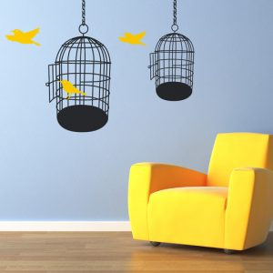 Bird Cages Wall Stickers-0