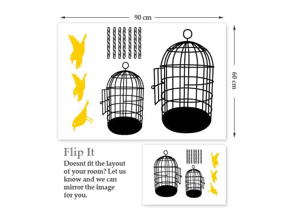 Bird Cages Wall Stickers-319