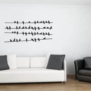 Birds on a Line Wall Stickers-0