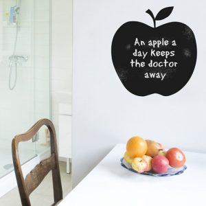 Chalkboard Apple Wall Sticker-0