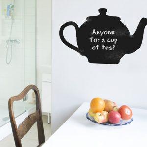 Chalkboard Teapot Wall Sticker-0