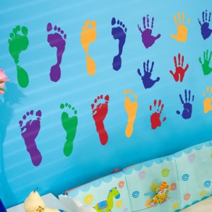 Kids Hands and Feet Wall Stickers-0