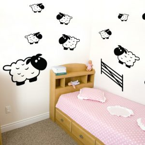 Kids Sheep Wall Stickers-0