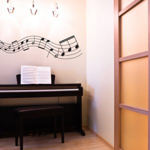 Musical Notes Wall Stickers-0