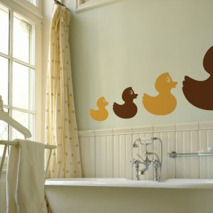 Rubber Duck Row Wall Stickers Room Image