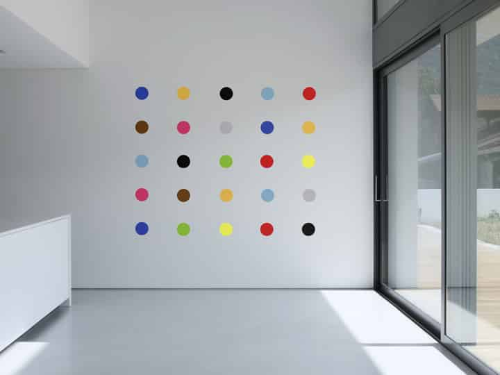 Art Deco Spots Wall Stickers - Room Image