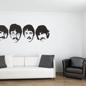 The Beatles Wall Stickers Room Image