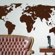 Large World Map Wall Sticker-0