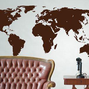 Large World Map Wall Sticker-0