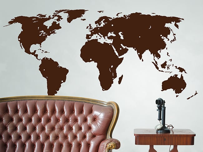 largeworld map wall sticker the binary box. Black Bedroom Furniture Sets. Home Design Ideas