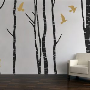 Silver Birch Tree Wall Stickers Room Image