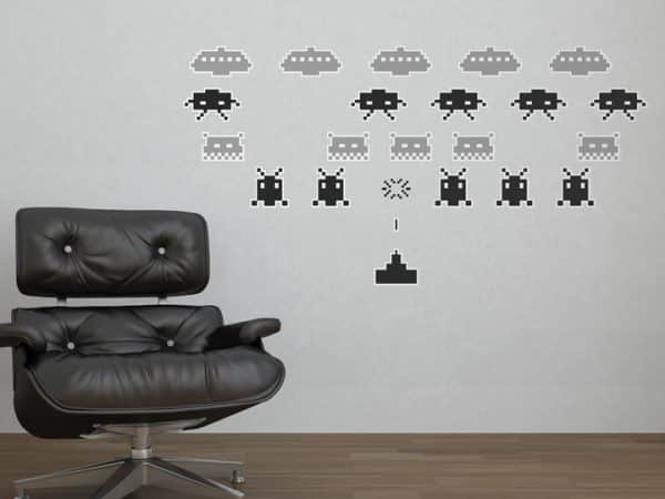 Black and Grey Space Invaders