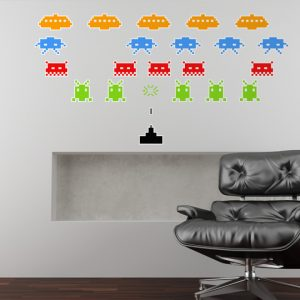 Space Invaders Wall Stickers Room Image