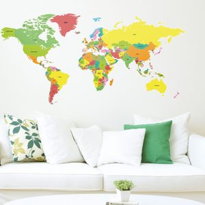 Countries of the World Map Wall Stickers-3614