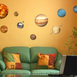 Educational Solar System Planets Wall Stickers-0
