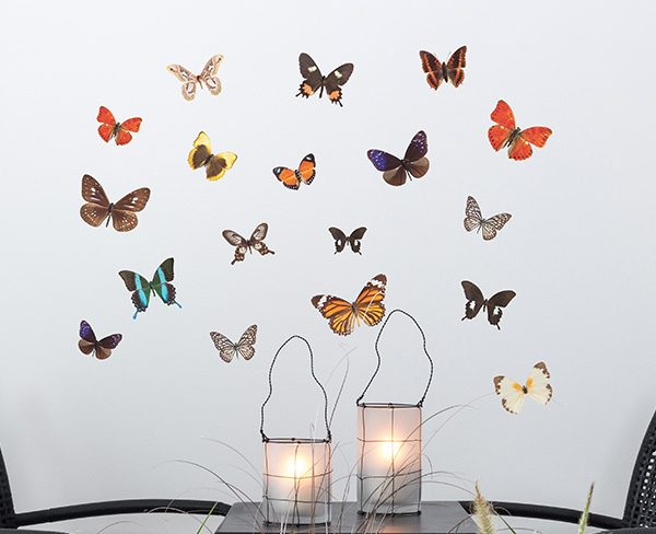 Autumn Butterflies Wall Stickers - Room Image