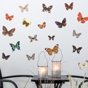 Large Autumn Butterflies Wall Stickers - Room Image