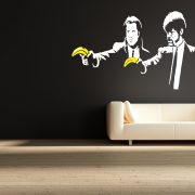 Banksy Pulp Fiction Wall Sticker - Room Image