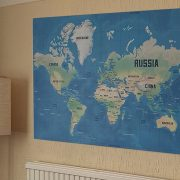Colour Me In World Map Print