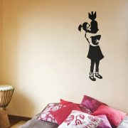 Banksy Bomb Girl Wall Sticker - Room Image
