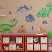 Childrens Dinosaur Wall Stickers Pack 2