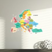 Map Europe Wall Stickers