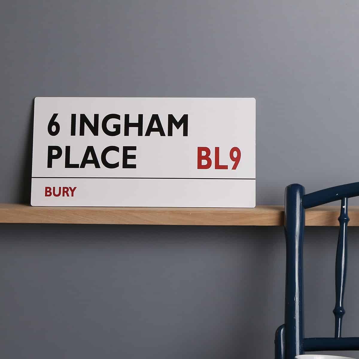 Personalised White, Black and Red street sign