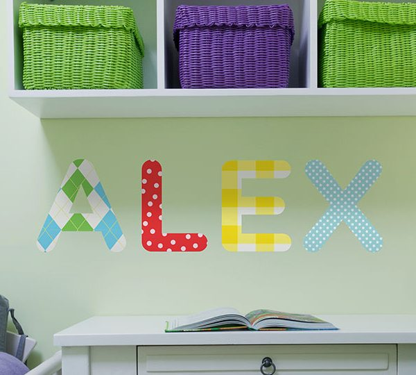 Personalised Childrens/Kids Name Wall Stickers Part 48