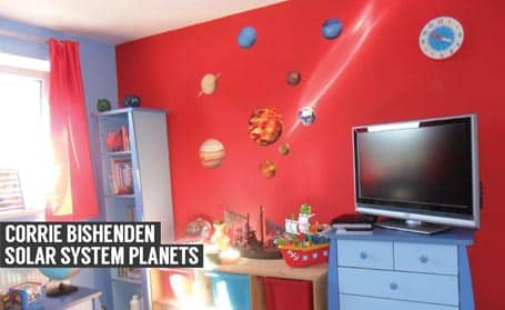 planets of the solar system wall stickers