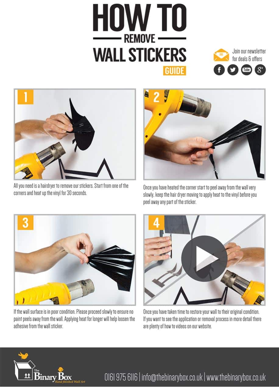 how to remove wall sticker