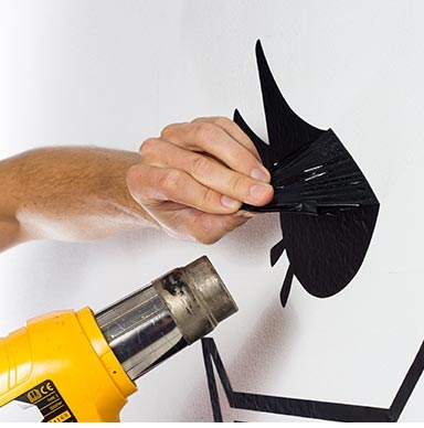 how to remove wall stickers easy