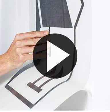 how to apply wall art vinyl