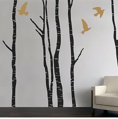 contemporary tree trunks