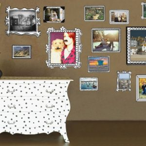 contemporary family photo frames wall stickers