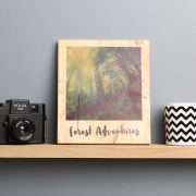 personalised polariod picture wooden