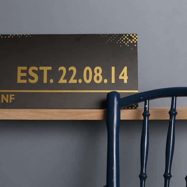Personalised Black And Gold Street Sign