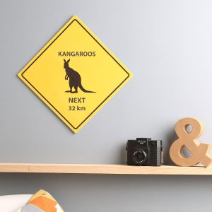 animal warning sign print for home and office