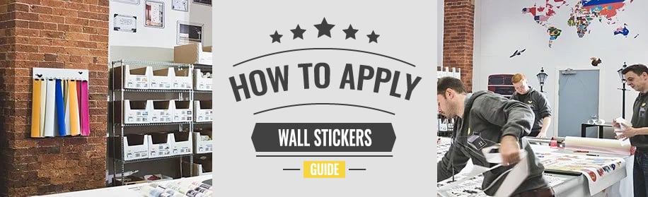 how to apply wall stickers banner image