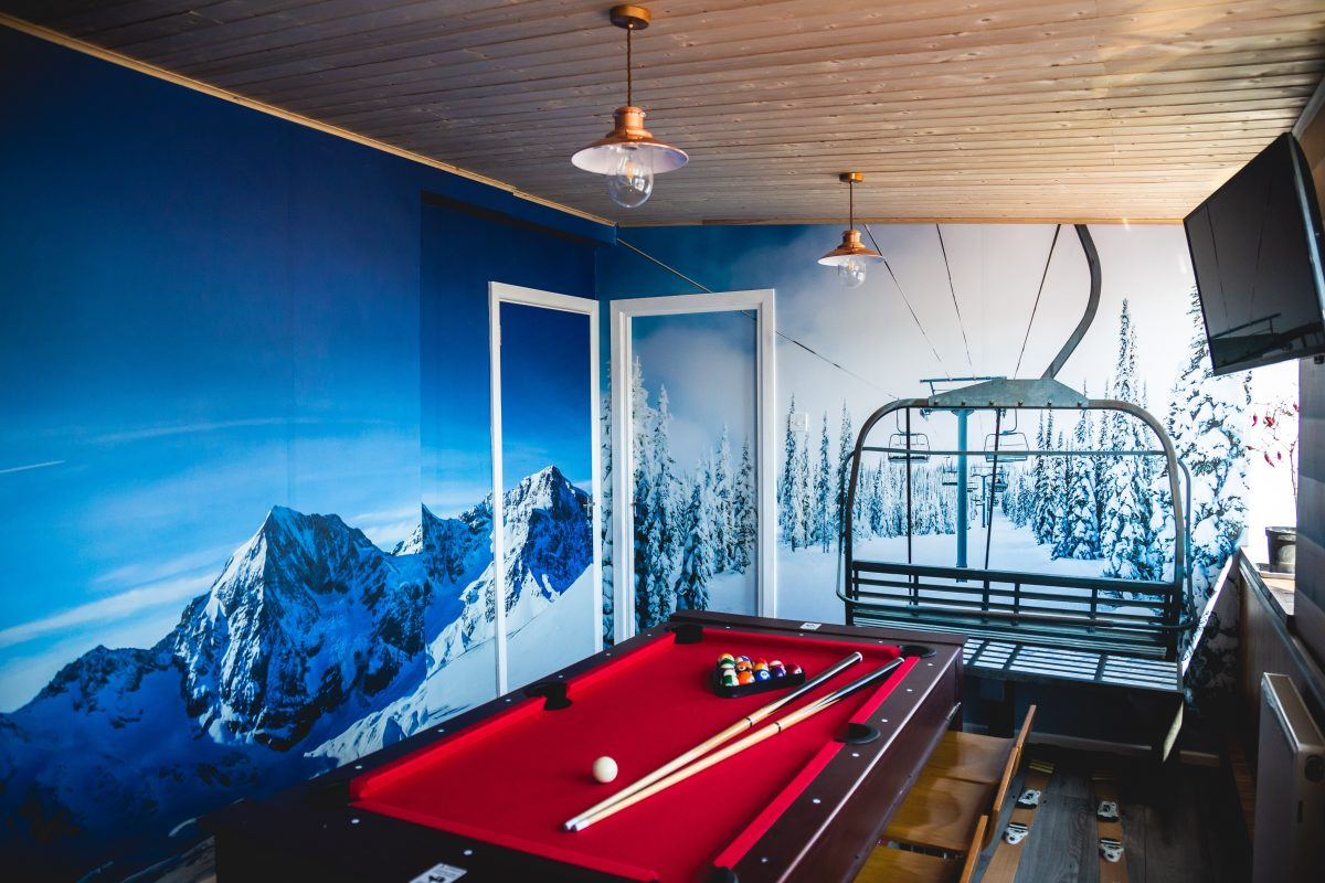The Binary Box Ski Chalet break room