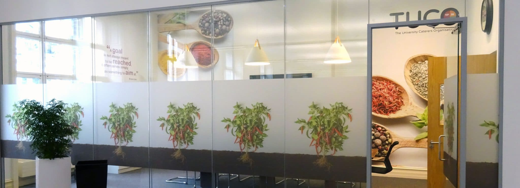 food wall art in boardroom